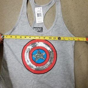 Marvel Tops - Marvel Captain America tank top